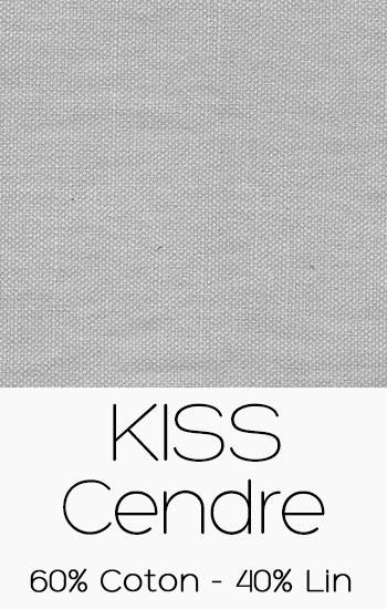 Tissu Kiss Cendre
