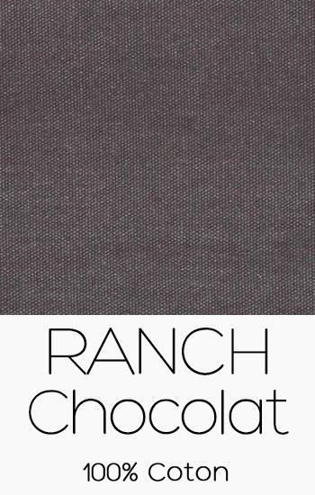 Tissu Ranch Chocolat
