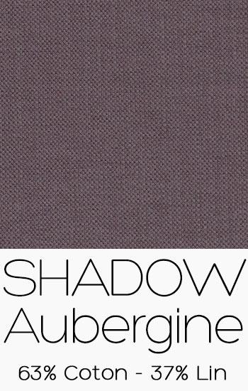 Tissu Shadow Aubergine
