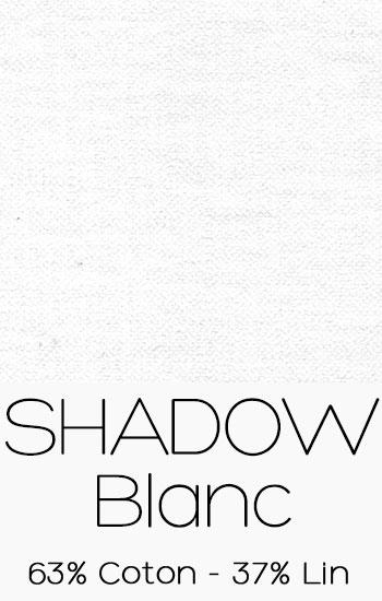 Tissu Shadow Blanc