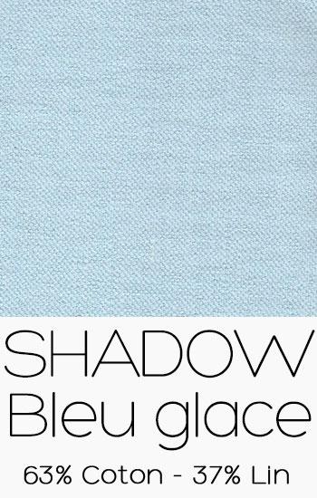 Tissu Shadow Bleu Glace
