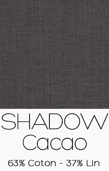 Tissu Shadow Cacao