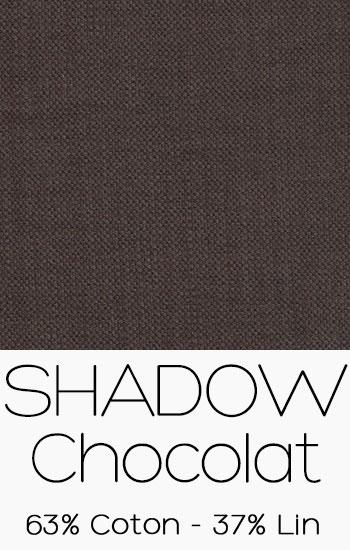Tissu Shadow Chocolat