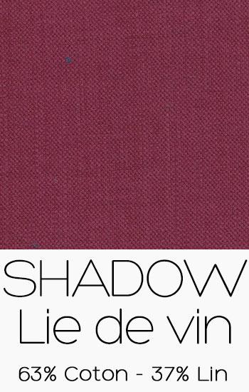 Tissu Shadow Lie de Vin