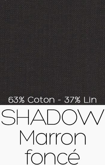 Tissu Shadow Marron foncé