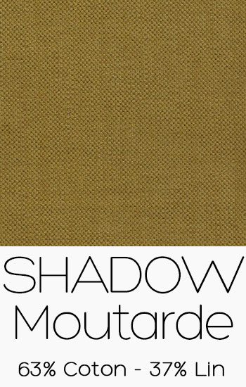 Tissu Shadow Moutarde