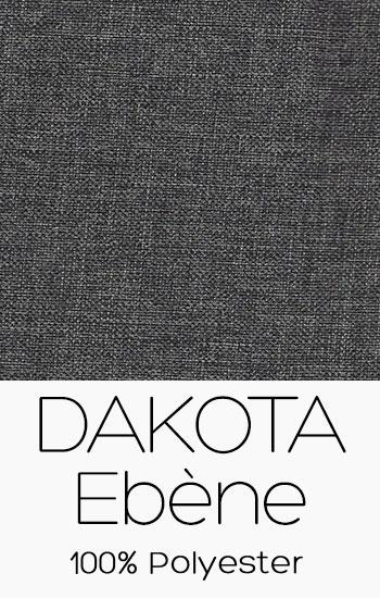 Tissu Dakota Ébène