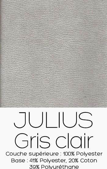 Tissu Julius Gris clair