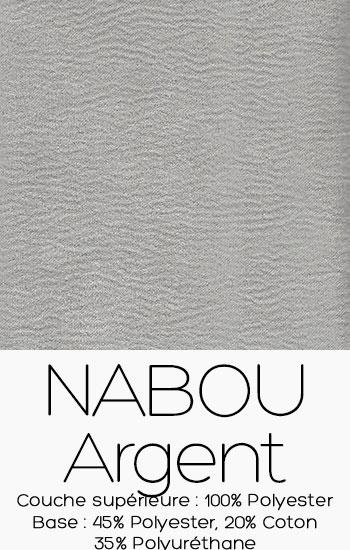 Tissu Nabou Argent