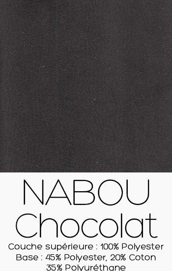 Tissu Nabou Chocolat
