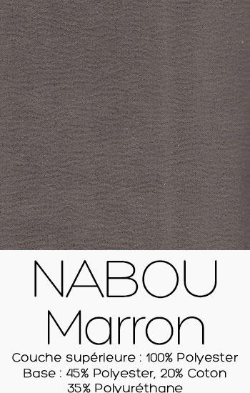 Tissu Nabou Marron