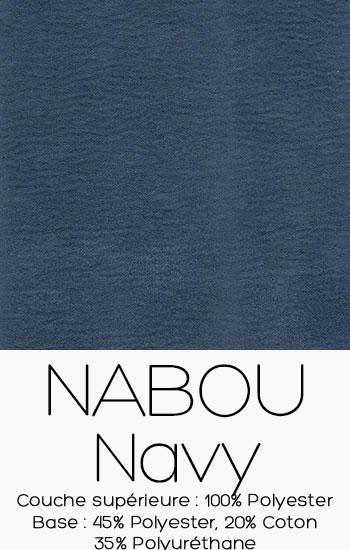 Tissu Nabou Navy