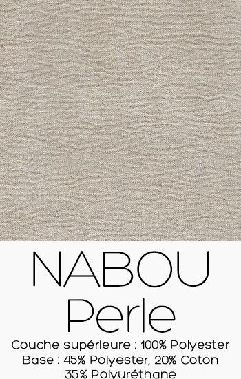 Tissu Nabou Perle
