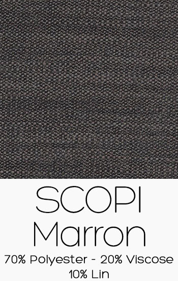 Tissu Scopi Marron