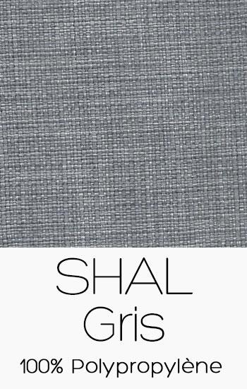 Tissu Shal Gris