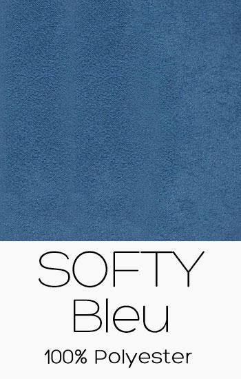 Tissu Softy Bleu
