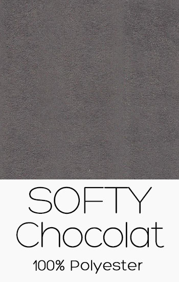 Tissu Softy Chocolat