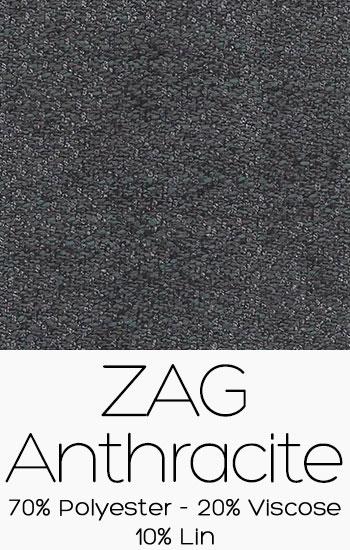 Tissu Zag Anthracite