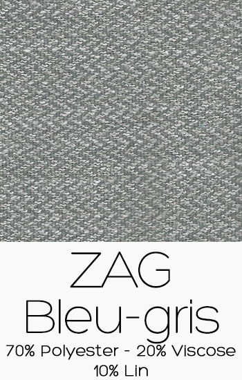 Tissu Zag Bleu Gris