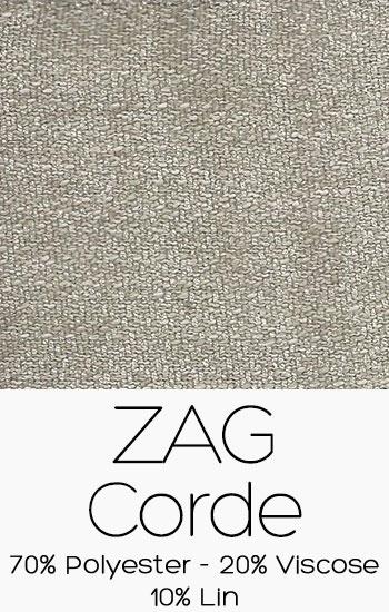 Tissu Zag Corde