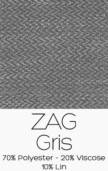 Tissu Zag Gris