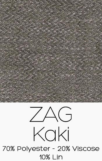 Tissu Zag Kaki