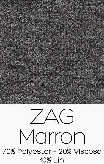 Tissu Zag Marron