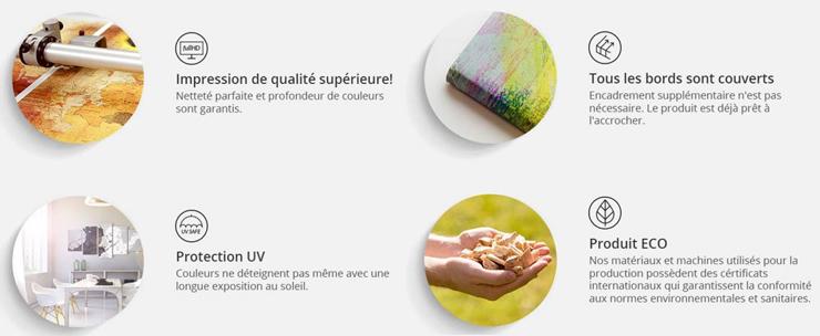 Impression numérique sur toile et châssis en bois de qualité
