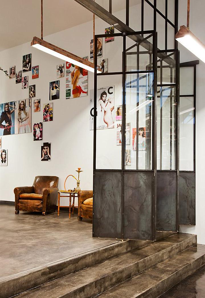 portes vitrées en métal style atelier