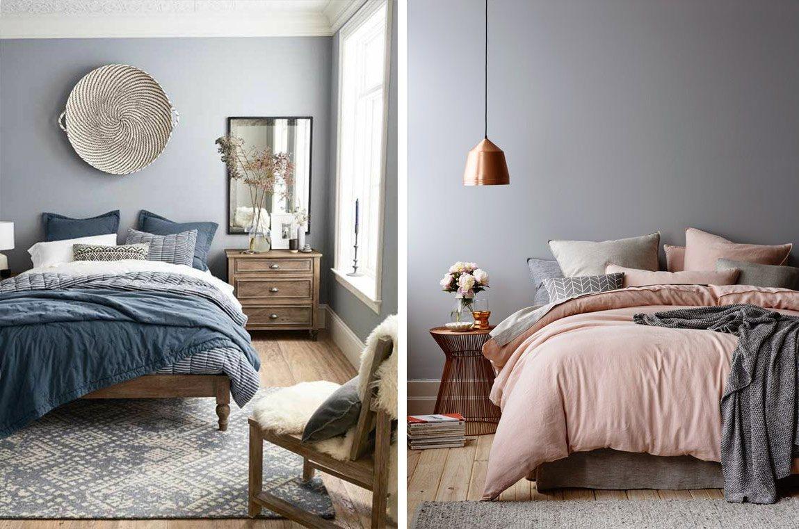 Coussins et oreillers sur le lit déco chambre