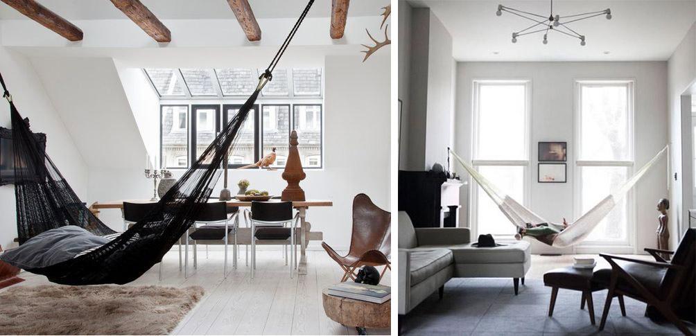 Hamac moderne salon sobre et design