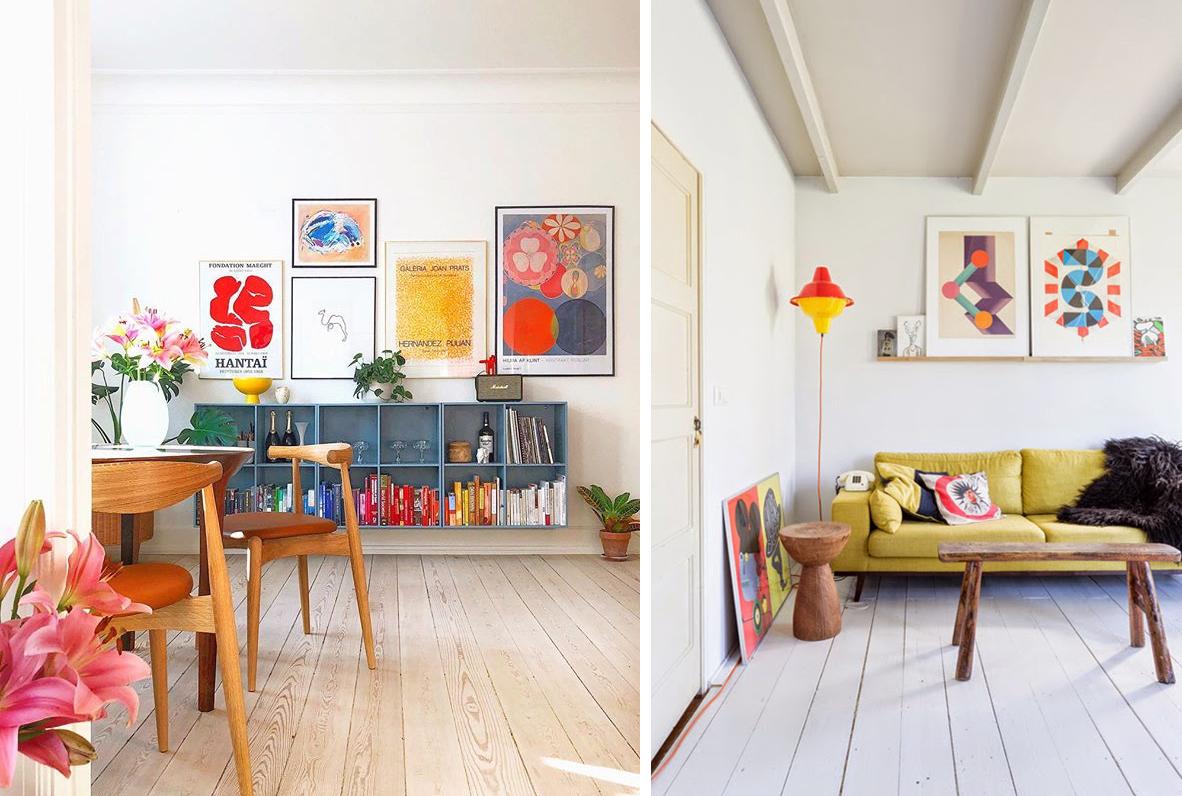 Couleurs intérieur scandinave colorful scandinavian home