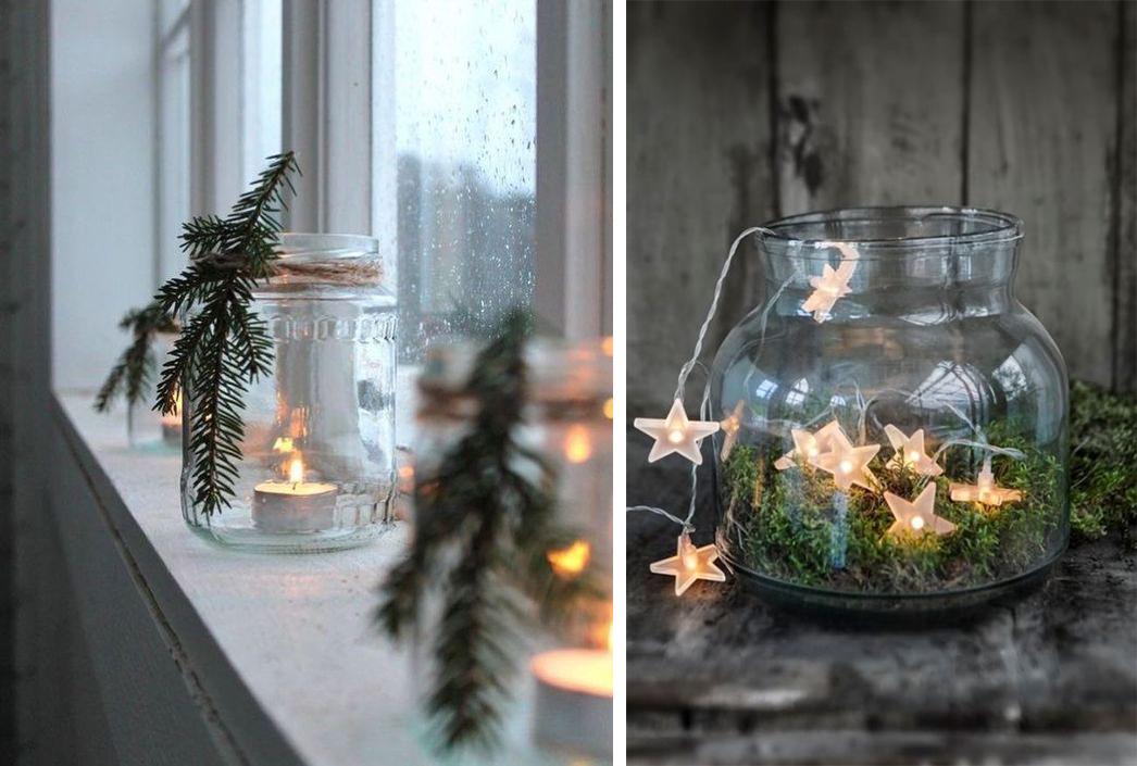 DIY Luminions bougies et guirlandes lumineuses dans des bocaux pour NoËl