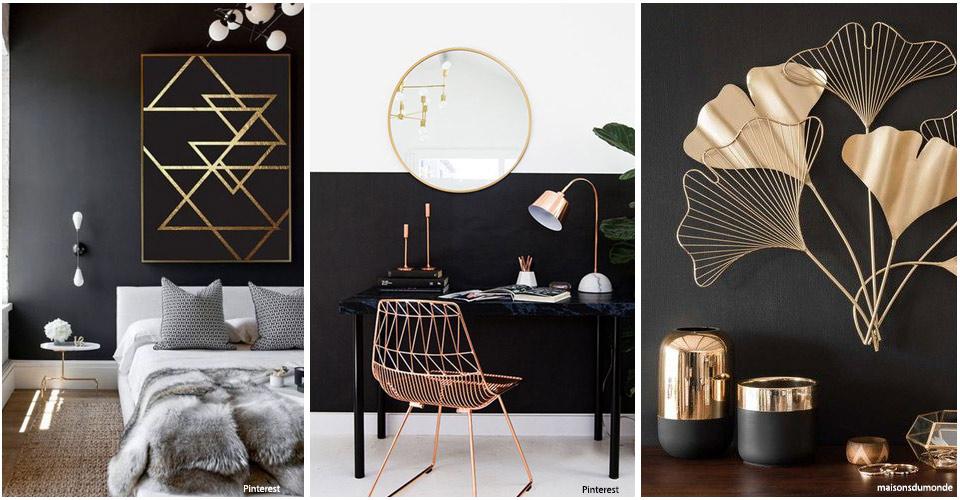 Noir et or ou noir et cuivre, golden black
