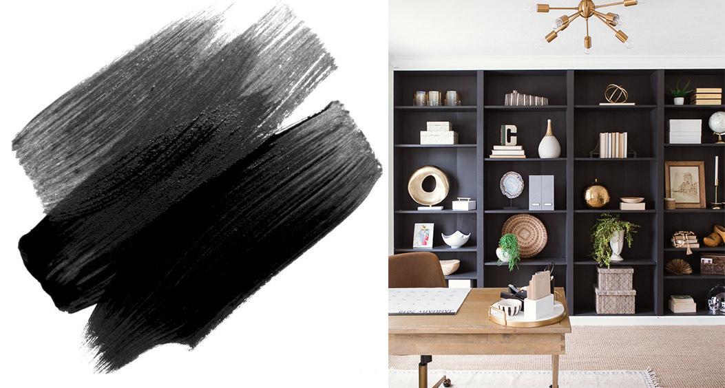 Noir et nuances de gris foncé : anthracite, charbon, ébène...