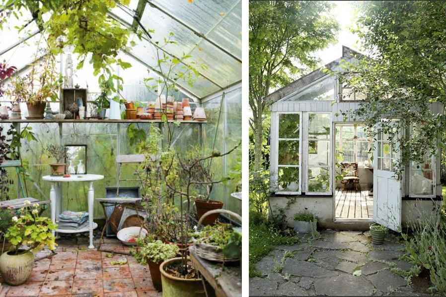 Serres de jardin espace vitré décoration extérieure