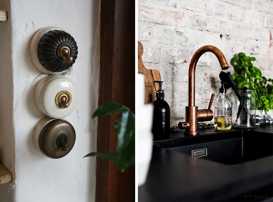 Accessoires, interrupteurs et robinetterie shabby chic farmhouse