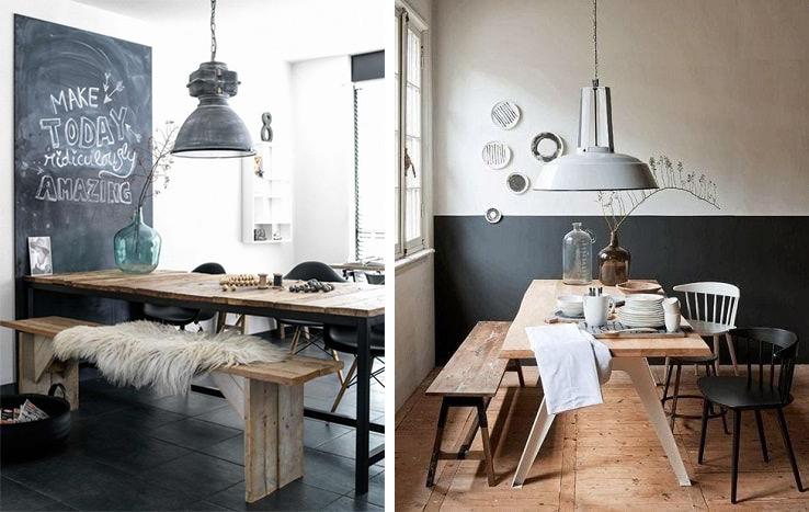 Banc pour la salle à manger, aménagement chaise et table repas