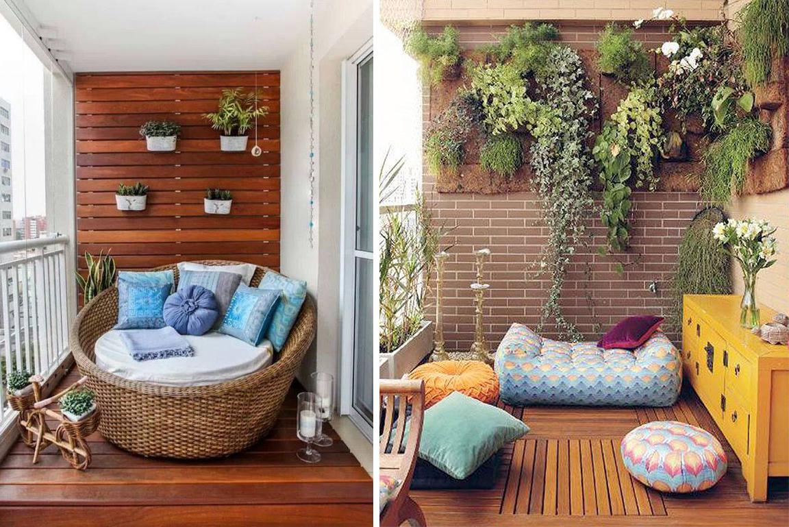 Loveuse ou coussins de sol pour un balcon convivial et détendu