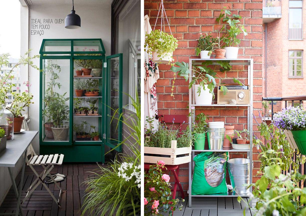 Serres végétales ou étagères de plantes sur le balcon