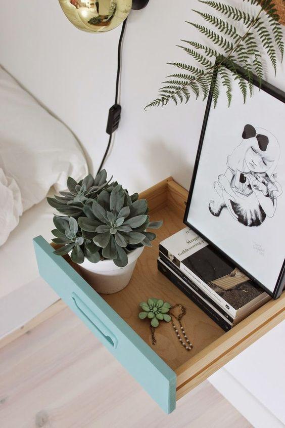 Table chevet tiroir récup DIY