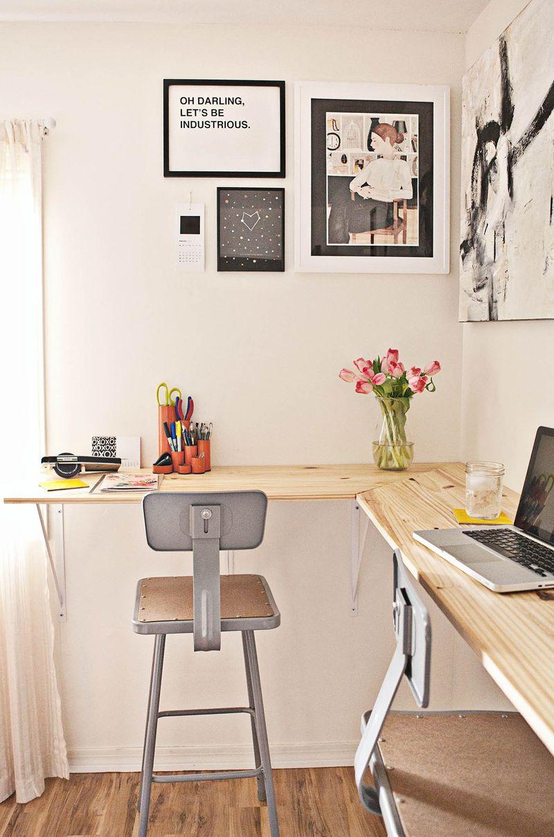 Bureau en coin, aménagement home working space