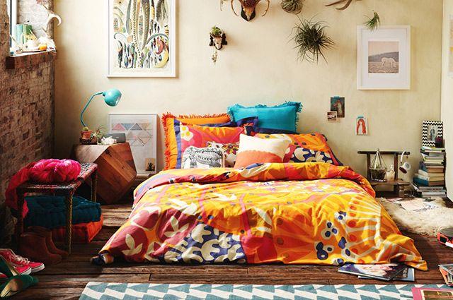 Parure de lit colorée et joyeuse