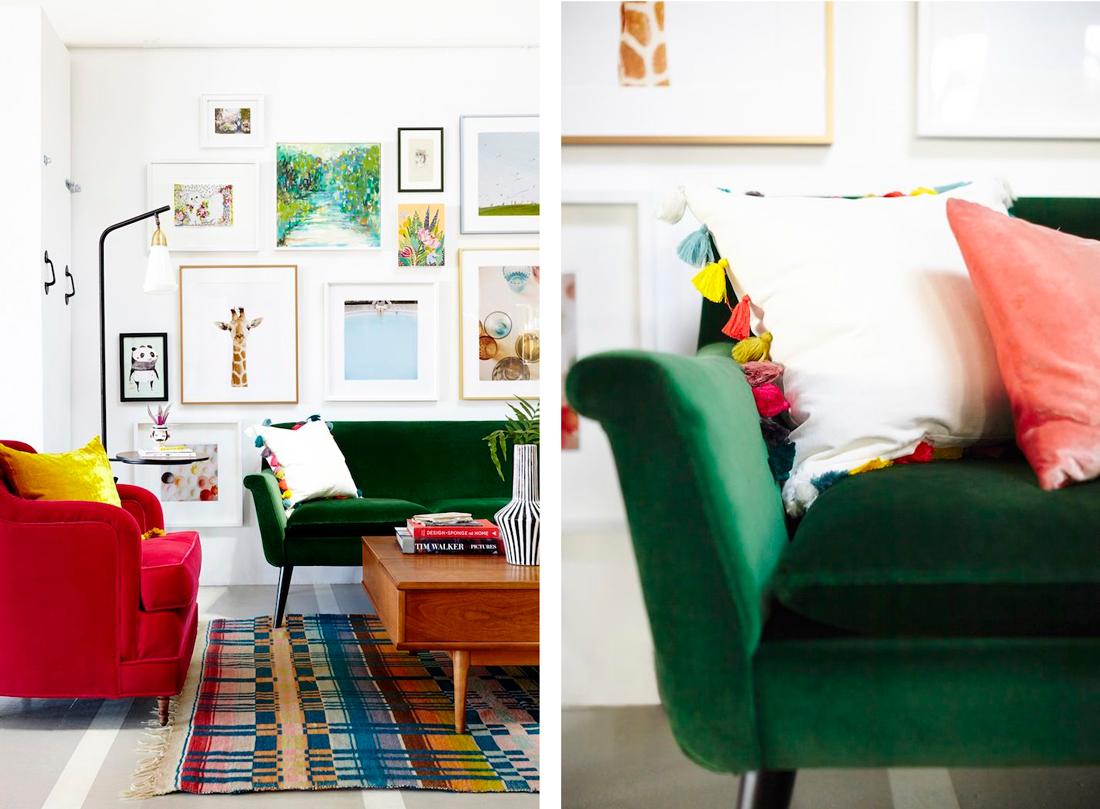 Des couleurs vives au salon