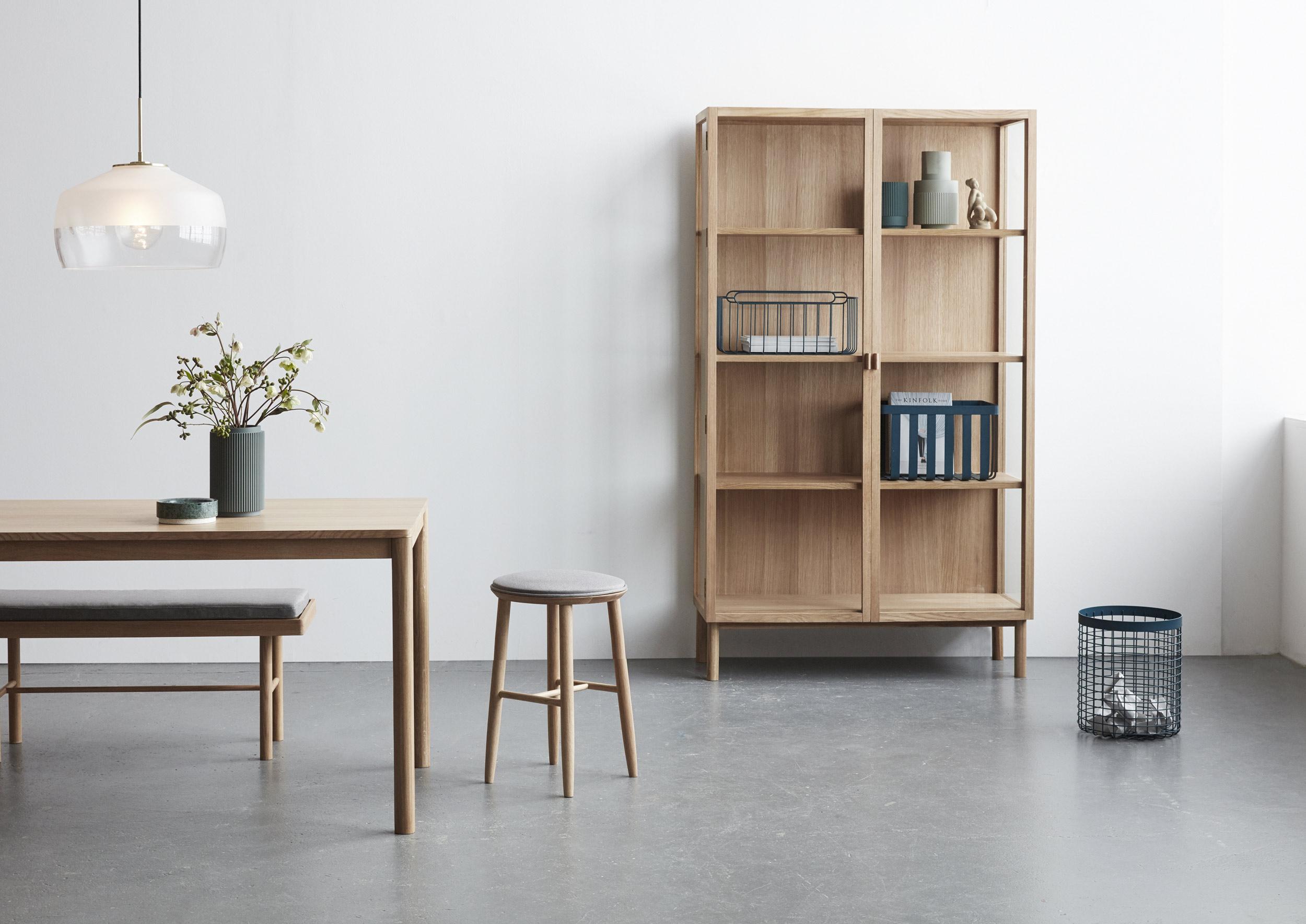 Ambiance Hübsch, mobilier en bois de chêne décoration scandinave style danois