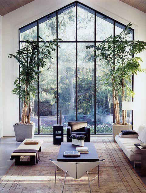 Verrière véranda noire, deco minimaliste plant lover urban jungle