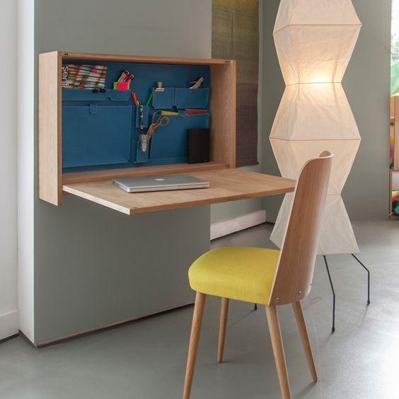 Bureau mural petit studio aménager un espace de travail