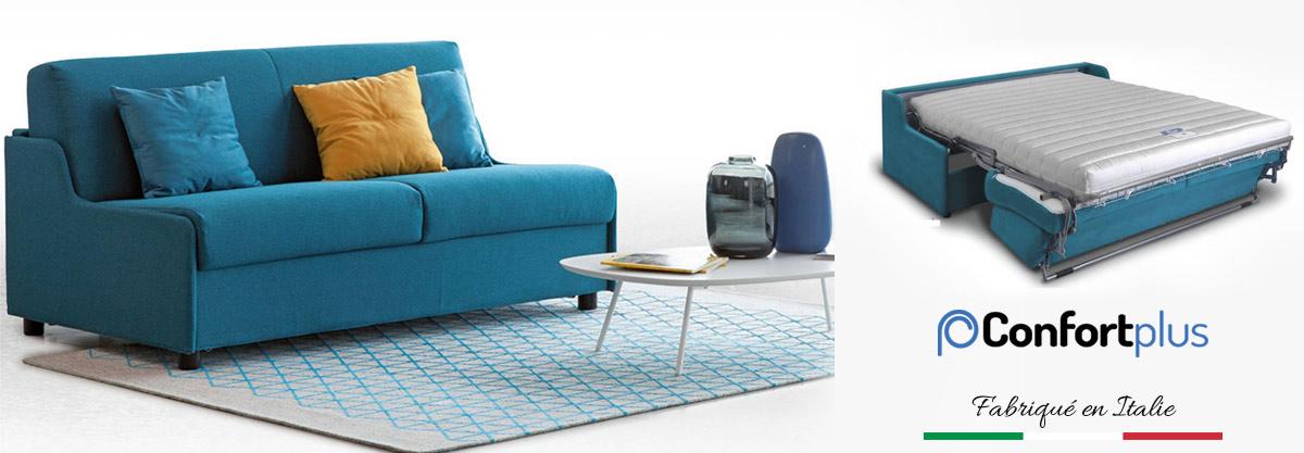 Canapé-lit convertible sans accoudoirs petits espaces
