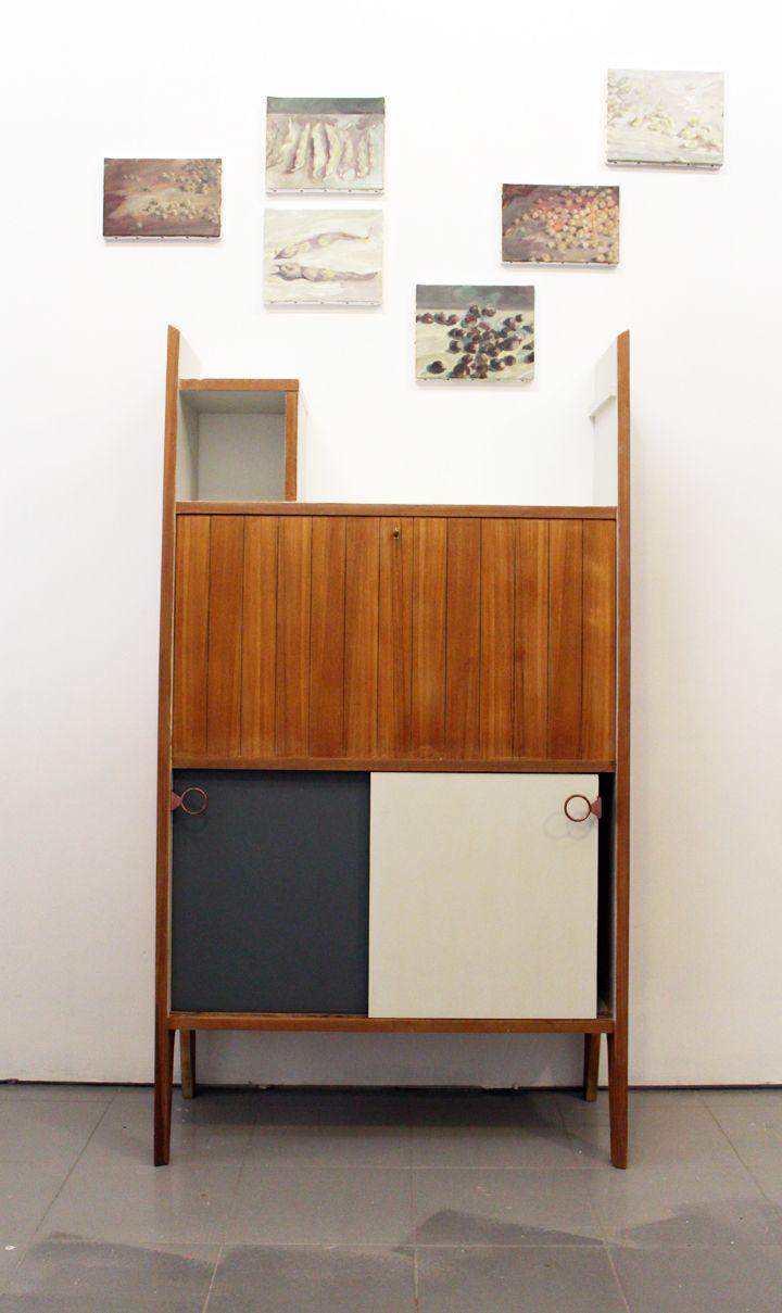 Armoire vintage avec secrétaire intégré