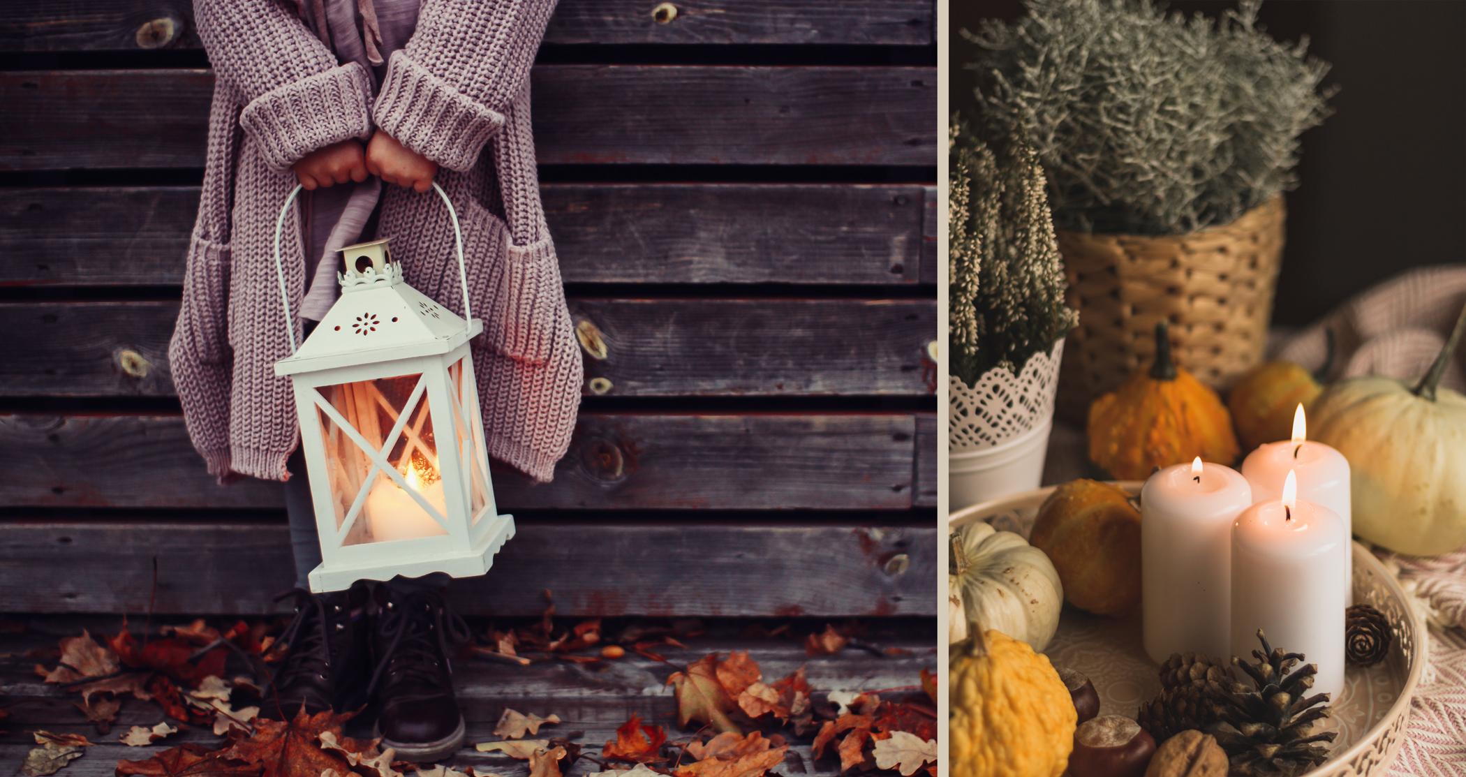 Bougies et lanternes automne